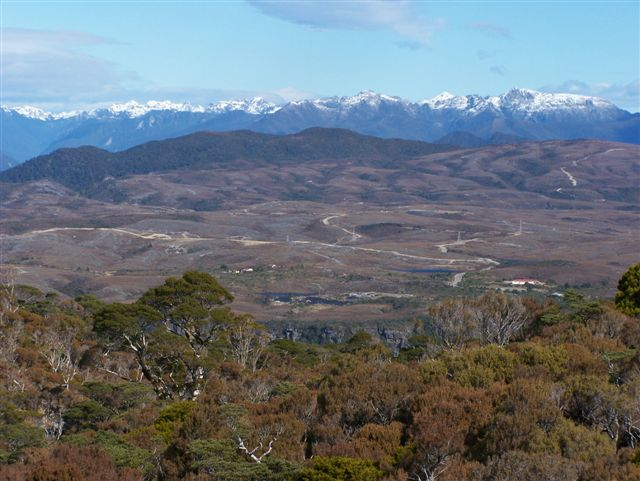 A shot of the stunning Denniston plateau, under threat from Bathurst's proposed Escarpment coal mine, Image: CANA