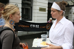 did you know your chees comes with coal ACA action outside Fonterra HQ, Auckland, 2013