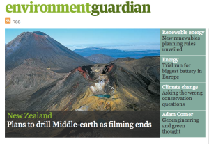 Yep, we made it to The Guardian Environment's front page - for all the wrong reasons.