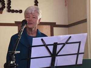 Jeanette Fitzsimons speaking in Blackball on Saturday.
