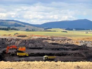 New Vale lignite mine, Mataura, Southland.