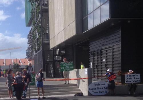 Outside Fonterra's flash HQ